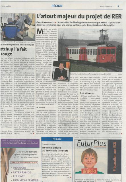 Article_La_Région_Nord_Vaudois_12_3_15_présentation_esam